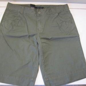 Calvin Klein Olive Green Shorts Knee Length